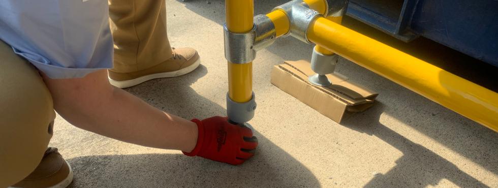2.単管パイプで簡単に作れるDIYベンチ [#4]斜面に設置する際の水平調整の仕方!