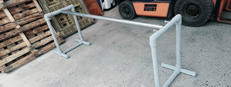 1.単管パイプ塗装専用台 [#3]組み立て~塗装。完成までの過程